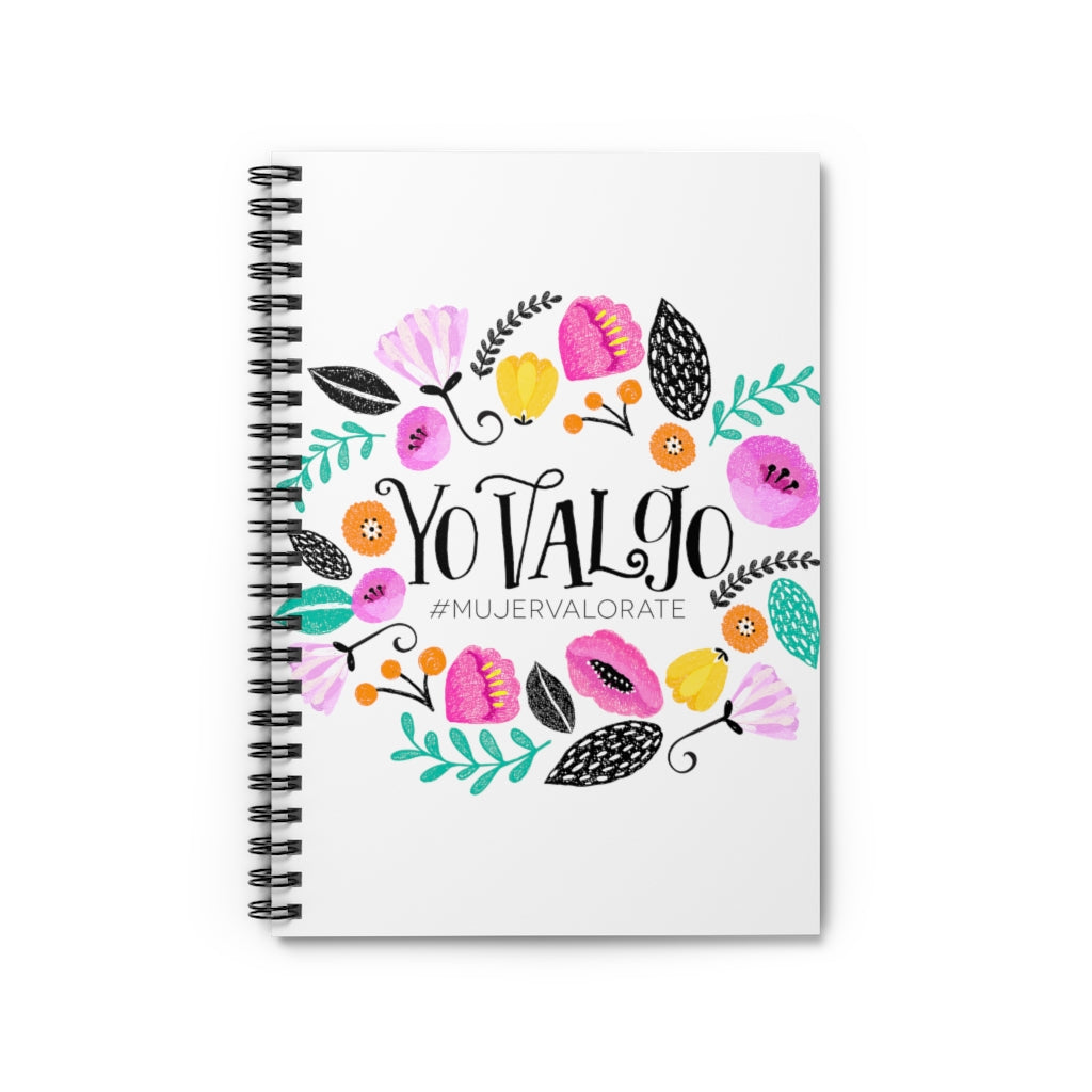 Yo Valgo - Letra Negra 2 - Spiral Notebook - Ruled Line