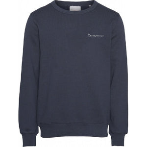 Elm Navy Sweatshirt Knowledge Cotton Apparel