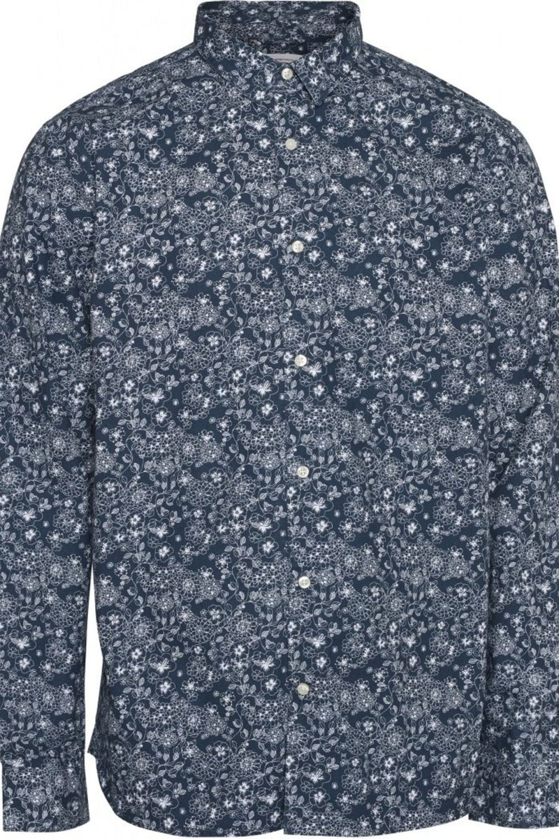 Flower Printed Shirt Knowledge Cotton Apparel