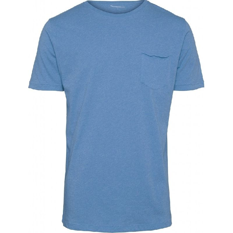 Alder Basic Chest Pocket Tee Blue Knowledge Cotton Apparel