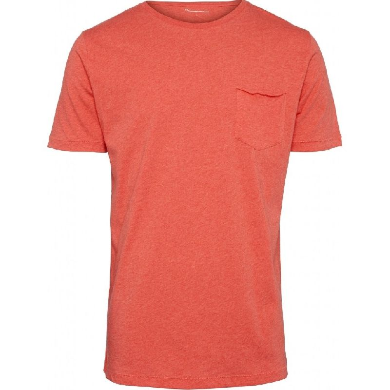 Alder Basic Chest Pocket Tee Red Knowledge Cotton Apparel