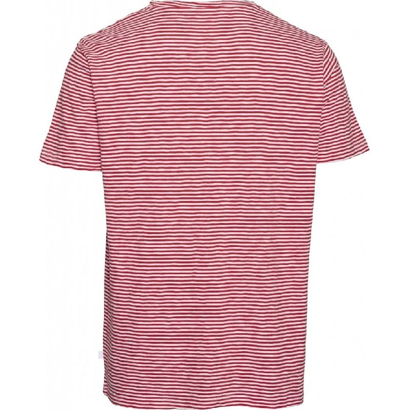 Alder Narrow Striped Tee Red Knowledge Cotton Apparel