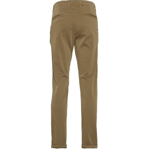 Chuck Regular Streched Chino Pants Beige Knowledge Cotton Apparel