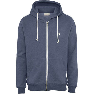 Elm Zip Hoodie Sweatshirt Blue Knowledge Cotton Apparel