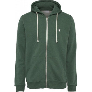 Elm Zip Hooded Sweatshirt Olive Green Knowledge Cotton Apparel