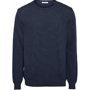 Field O-Neck Sailor Knit Navy Knowledge Cotton Apparel
