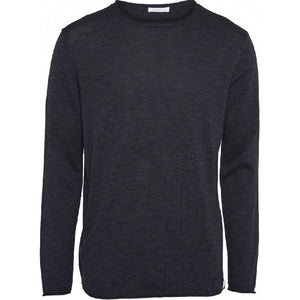 Forrest O-Neck Tencel Knit Navy Knowledge Cotton Apparel