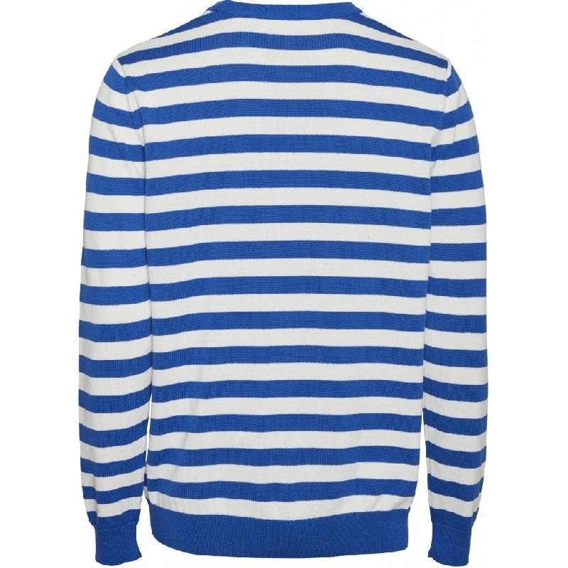 Forrest O-Neck Striped Knit Knowledge Cotton Apparel