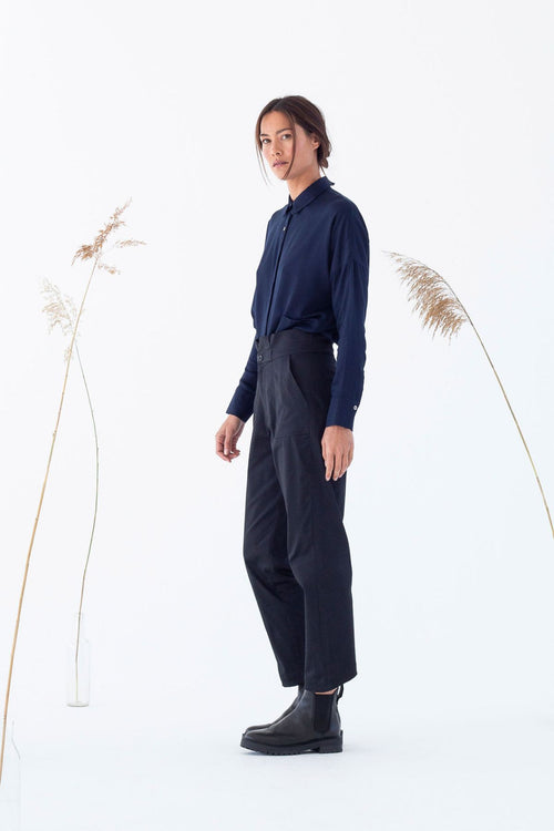 Mine Organic Cotton Satin Trousers Suite13