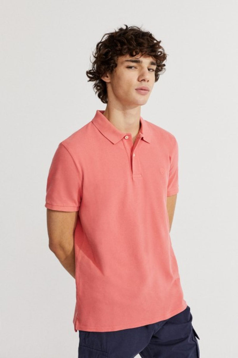 Ted Slim Fit Dark Coral Polo Ecoalf