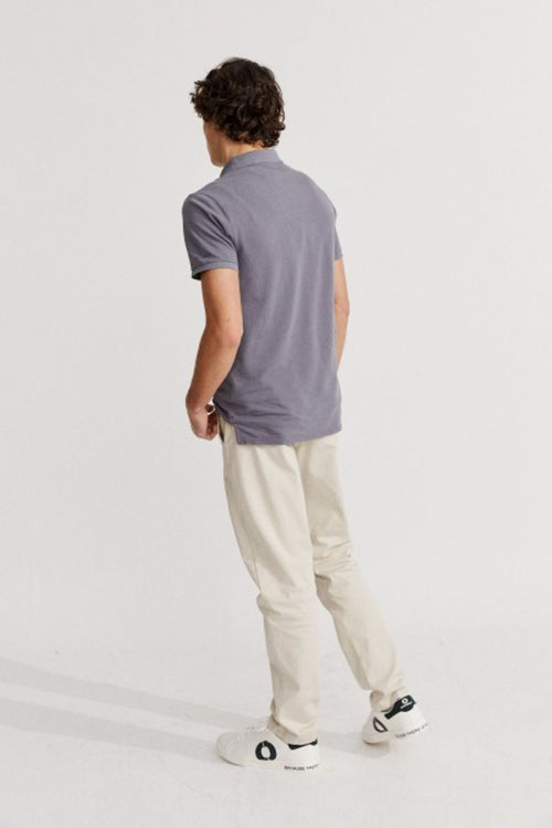 Ted Slim Fit Grey Blue Polo Ecoalf
