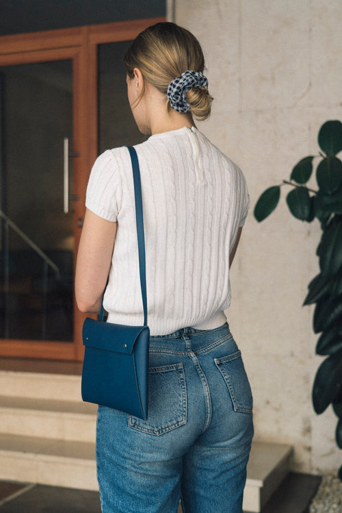 Cross Body Organizer Walk WIth Me Brand Navy