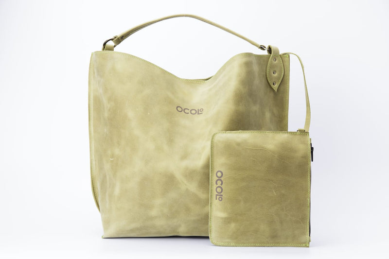 Green Tote Leather Bag