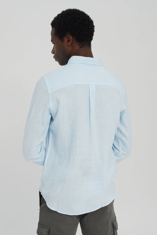 Linen Shirt Ecoalf Light Blue