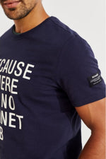 Because No Planet B Ecoalf Tshirt Navy