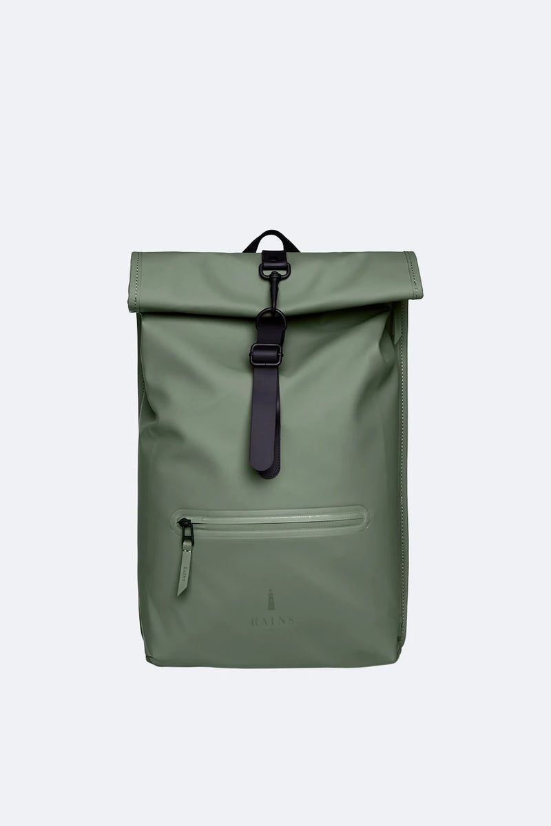 Roll Top Rucksack Rains Olive Green