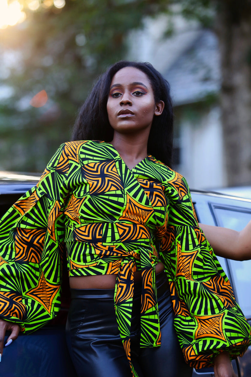 African Print Michelle Top