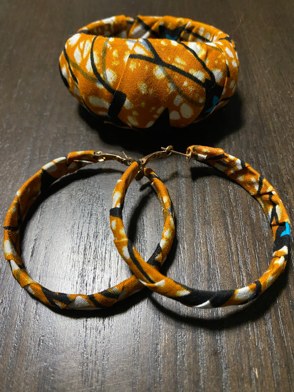 Merry (caramel) bracelet and earrings set