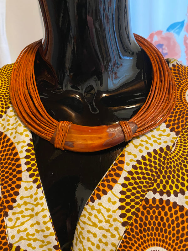 Kwoa leather necklace