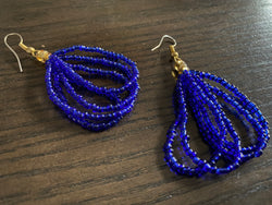 Abidjan (Blue) earrings