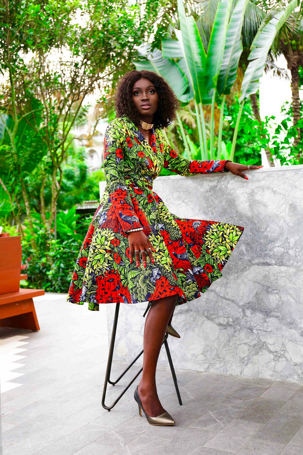African Print Ashanti Dress