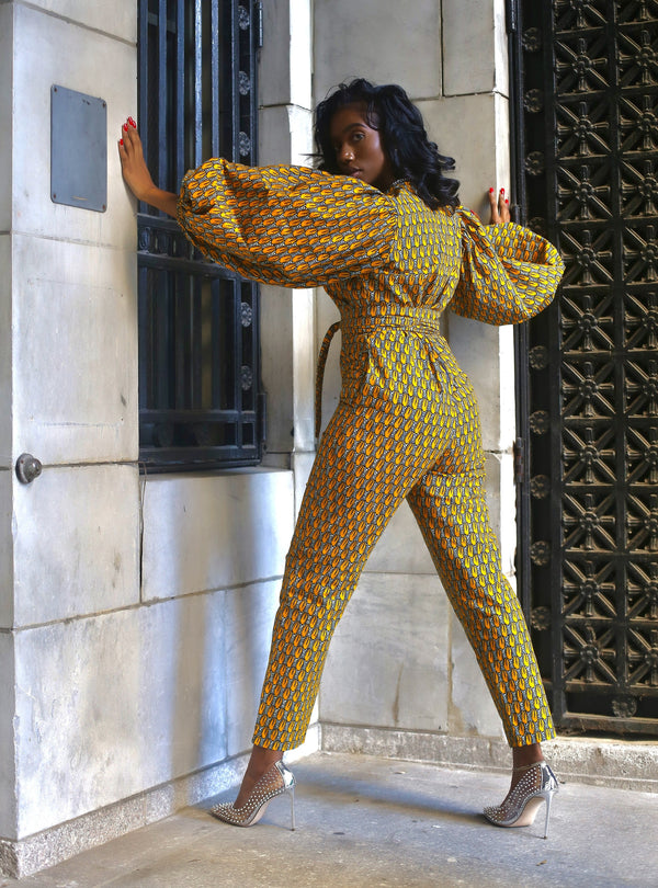 African Print Nada Jumpsuit