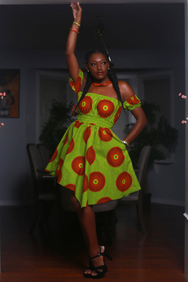African Print Kitty Dress