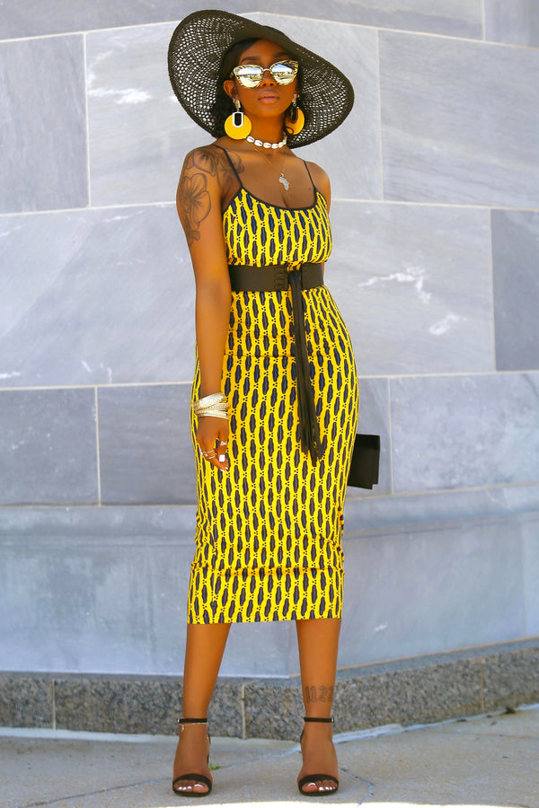 Joelle (Yellow Cori) Dress