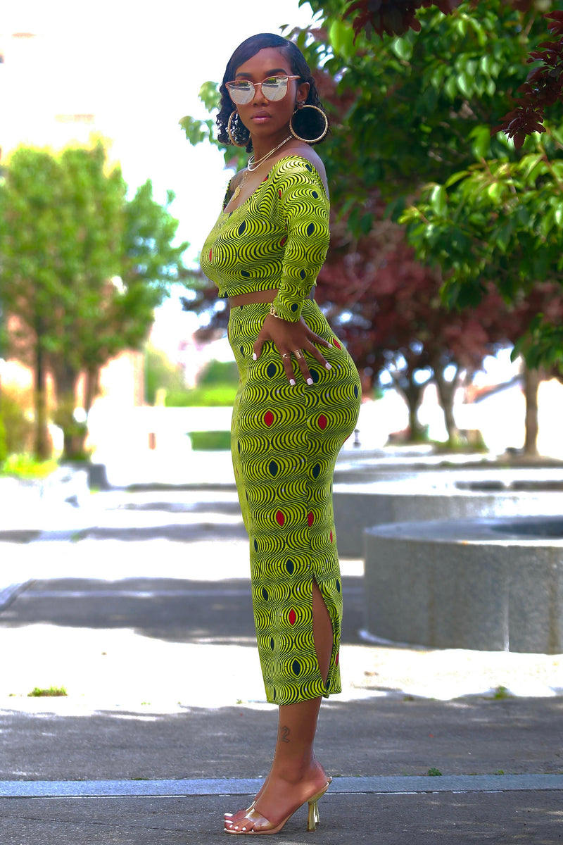 Maelle (Lime Green) Matching Set