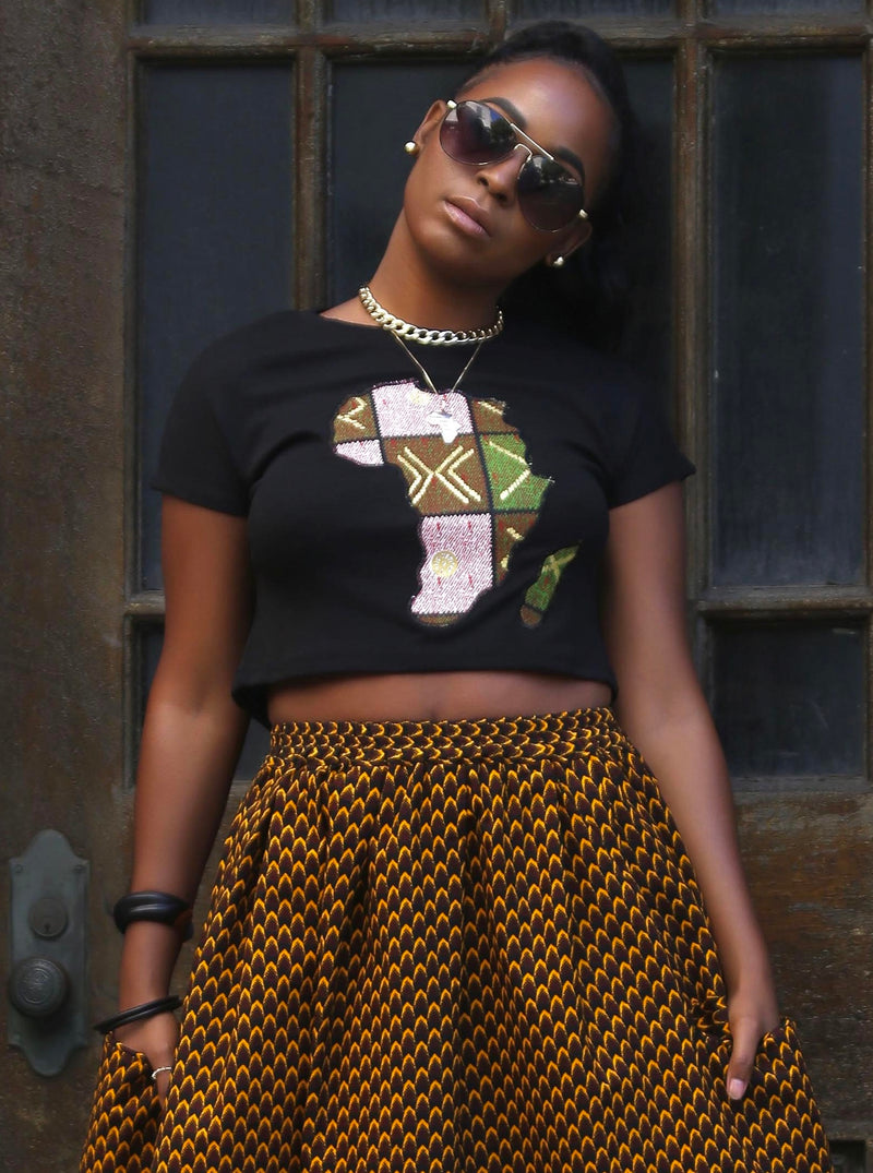 African Print kwame (Africa) Top