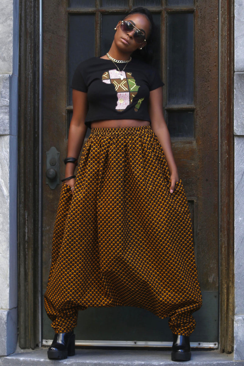 African Print Mourouba (Brown) Pants