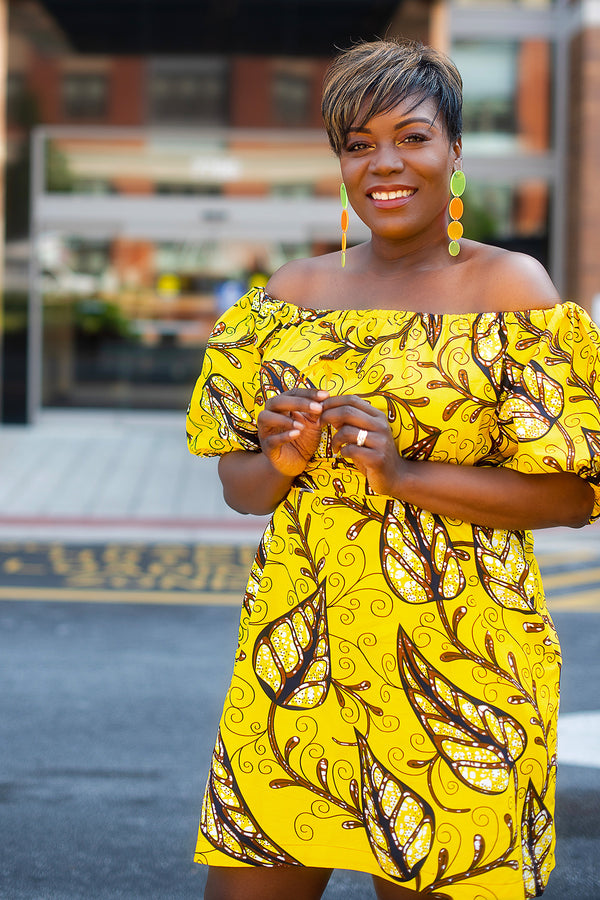 African Print Fatim (Yellow) Dress