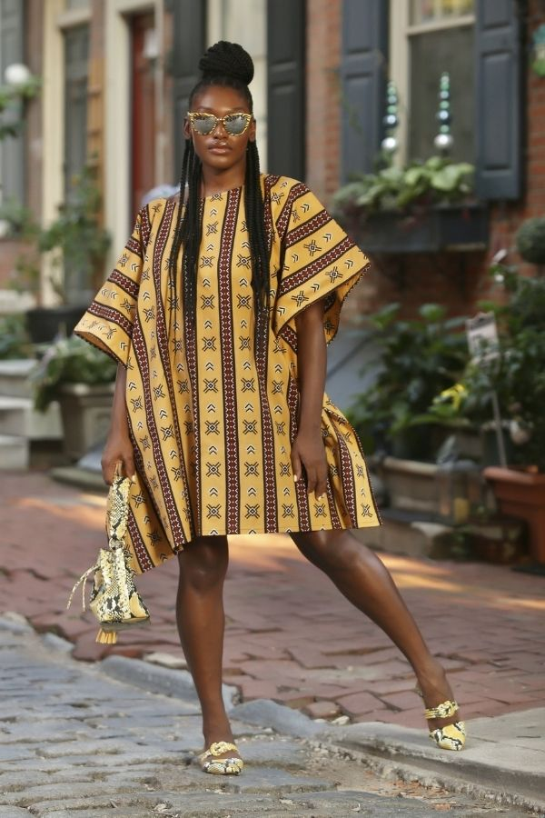 African Print Fullani (Mustard) Dress