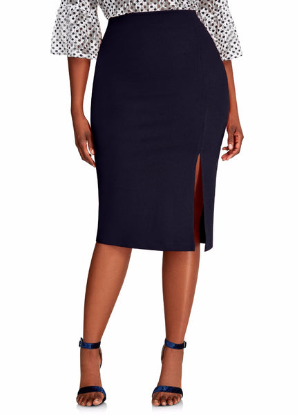 2020 Best Selling Women Skirt For The Cross Dresser Sheath Plus Size Oversized 6XL High Waist Pencil Skirts Empire Sexy Solid Color Slashed With Slip - Corona-Transgender