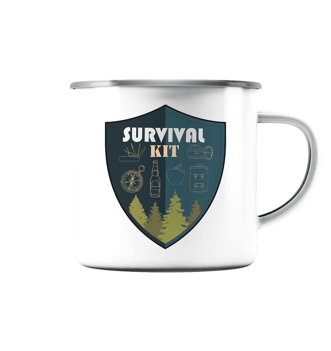Survival Kit - Emaille-Tasse