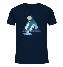 Laden Sie das Bild in den Galerie-Viewer, Mountains and River Night - Kids Organic Shirt