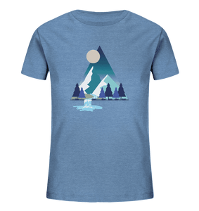 Mountains and River Night - Kids Organic Shirt