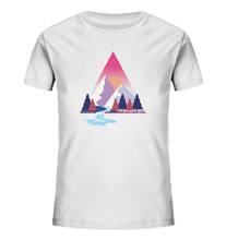 Laden Sie das Bild in den Galerie-Viewer, Mountains and River Day - Kids Organic Shirt