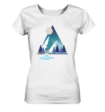 Laden Sie das Bild in den Galerie-Viewer, Mountains and River Night - Ladies Organic Shirt