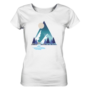 Mountains and River Night - Ladies Organic Shirt