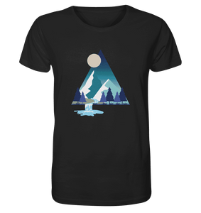 Mountains and River Night - Herren Organic Shirt
