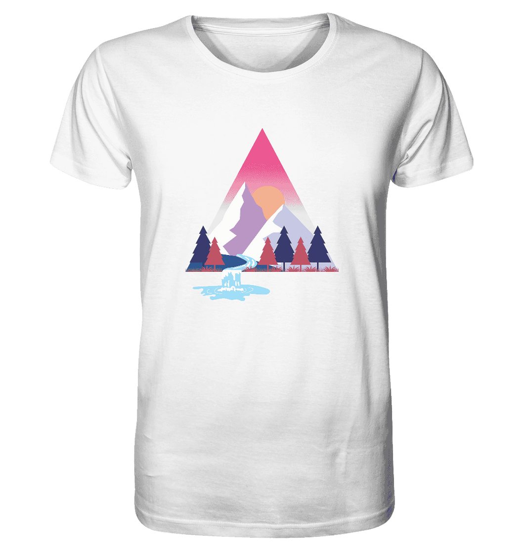 Mountains and River Day - Herren Organic Shirt