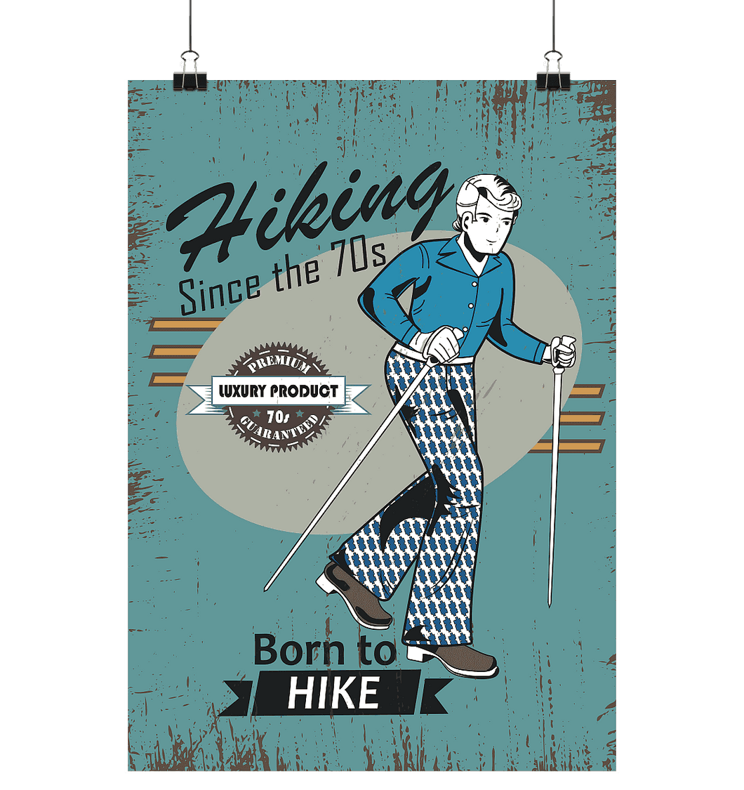 Hiking since the 70s - Poster Large (A1+)