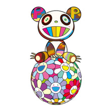 Load image into Gallery viewer, Takashi Murakami : Atop a Ball of Flowers, a Panda Cub Sits Properly