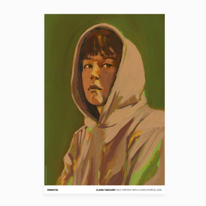 Claire Tabouret - Exhibition Poster: Self Portrait with a Hood (Purple)