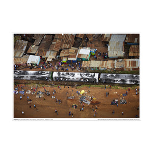 JR - 28 MM, Women are Heroes, Action in Kibera Slum, Nairobi Kenya 2009