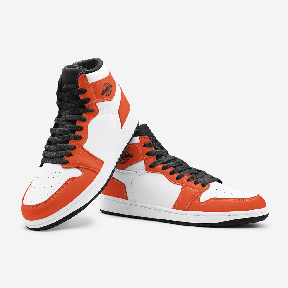 RAD SKYWALKER LEATHER MID TOP SNEAKERS - RED