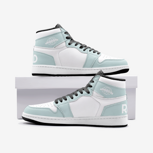 Open image in slideshow, RAD SKYWALKER LEATHER MID TOP SNEAKERS - LIGHT LIME-WHITE