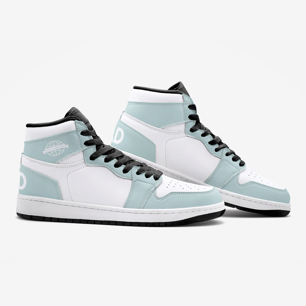 RAD SKYWALKER LEATHER MID TOP SNEAKERS - LIGHT LIME-WHITE