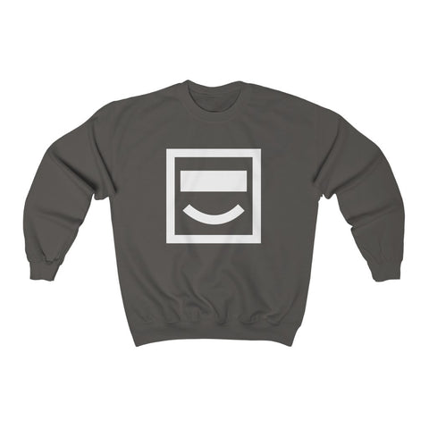 Face Detection Crewneck Sweatshirt - Charcoal